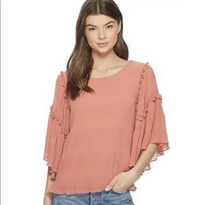 1 State NWT Nordstrom Boho pink top M